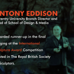 Professor Antony Eddison was awarded runner up in the final judging.