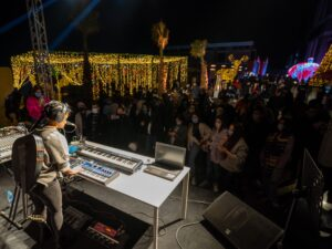 Balqis during her live performance at Spectacular TKH