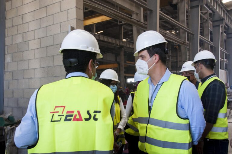 TKH School of Engineering representatives visit East Engineering and Services Technology.